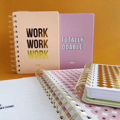 Studio Stationery Notitieboek Work work work - Blush - invulboekjes.nl
