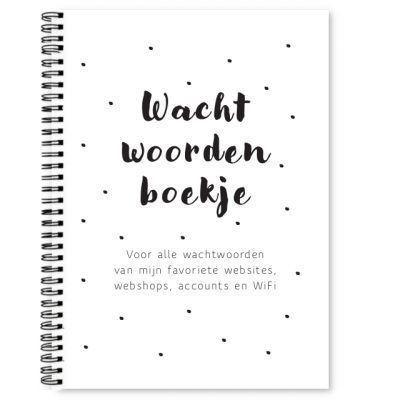 Wachtwoordenboekje Fyllbooks Cover