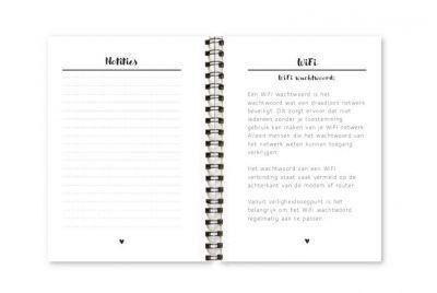Wachtwoordenboekje Fyllbooks binnenwerk Notities Wifi