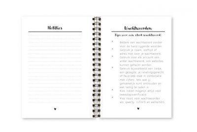 Wachtwoordenboekje Fyllbooks binnenwerk Wachtwoordenregels