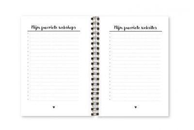 Wachtwoordenboekje Fyllbooks binnenwerk favorieten