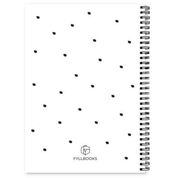 Achterkant cover afslankdagboek Fyllbooks