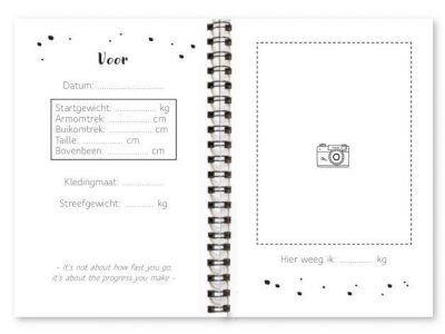 Binnenwerk afslankdagboek fyllbooks Voor