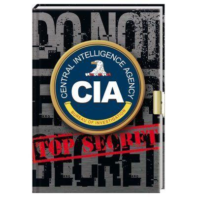 CIA dagboek met slotje - Top secret - invulboekjes.nl