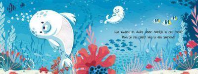 Dieren onder water Kijk- en voelboek Baby- & Peuterboeken