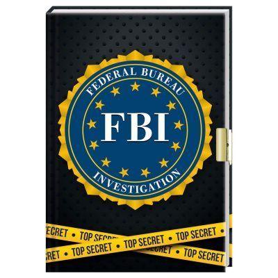 FBI dagboek met slotje - Top secret - invulboekjes.nl