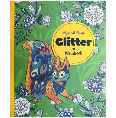Glitter kleurboek – Mystical Forest Glitter kleurboek