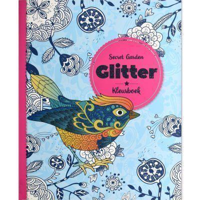 Glitter kleurboek – Secret Garden Glitter kleurboek