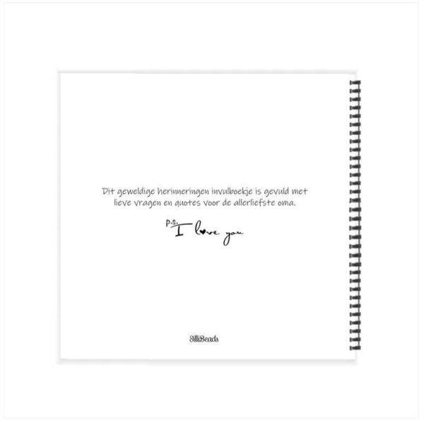 SilliBeads Jij bent mijn liefste oma – Wire-O Boeken in de aanbieding