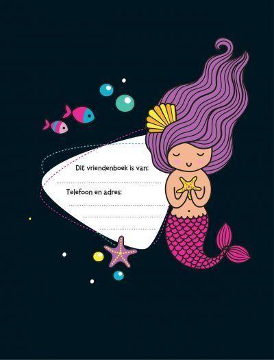 Vriendenboek Krassss mijn mermaid Vriendenboekje