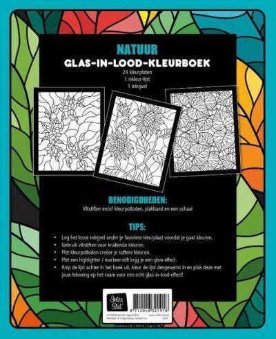 Glas-in-lood kleurboek – Natuur Glas-in-lood kleurboek