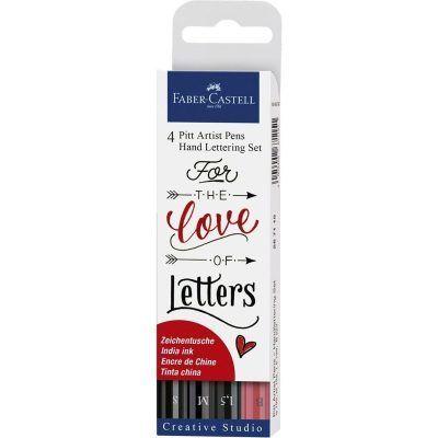 Faber-Castell Pitt Artist Pen handlettering 4-delig Boekaccessoires