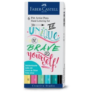 Faber-Castell Pitt Artist Pen handlettering 6-delig Boekaccessoires