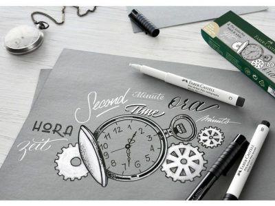Faber-Castell set Pitt Artist Pen zwart en wit Boekaccessoires