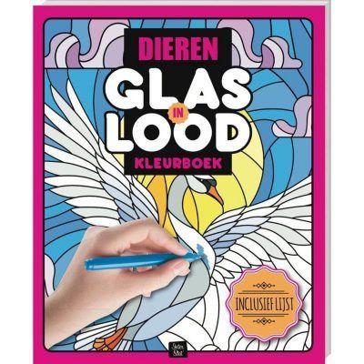 Glas-in-lood kleurboek – Dieren Glas-in-lood kleurboek