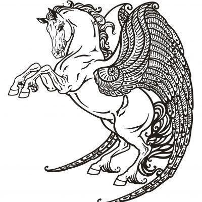 Glitter kleurboek – Mythical Creatures Glitter kleurboek