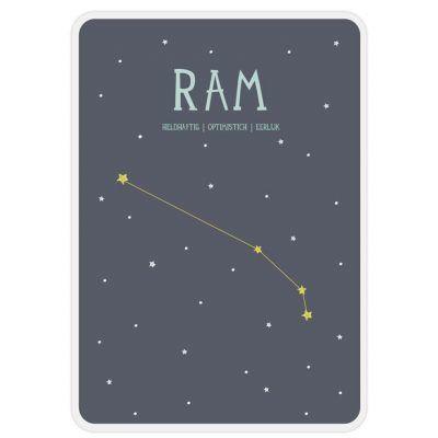Milestone Geboorteposter sterrenbeeld – Ram Babyposters