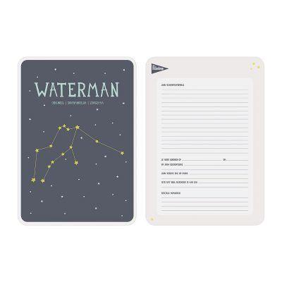 Milestone Geboorteposter sterrenbeeld – Waterman Babyposters