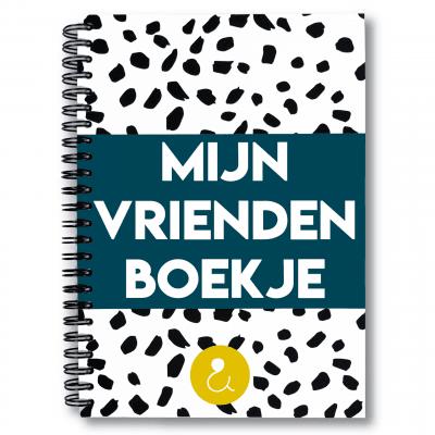 Studio Ins & Outs 'Mijn vriendenboekje' – Donkerblauw Vriendenboekje