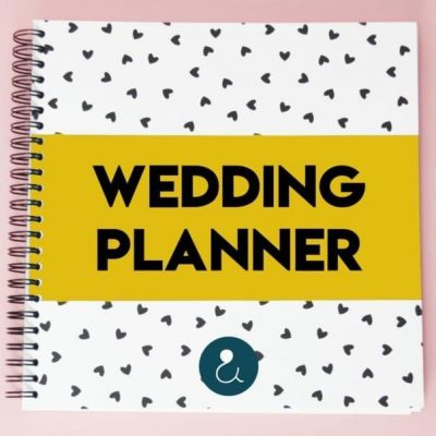 Studio Ins & Outs 'Wedding planner' – Okergeel Wedding planner boek