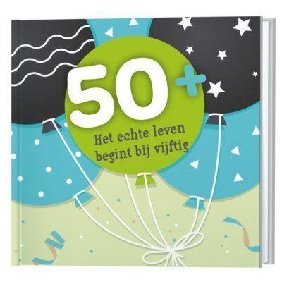 50+, het echte leven begint bij vijftig boekje Cadeauboeken