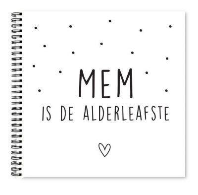 Krúskes Alderleafste mem invulboekje Cadeauboek voor moeder