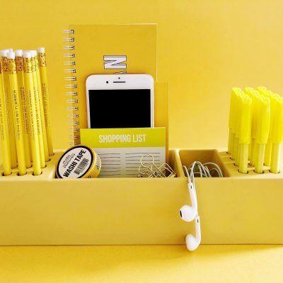 Studio Stationery Desk organizer Pens – Geel Desk organizer
