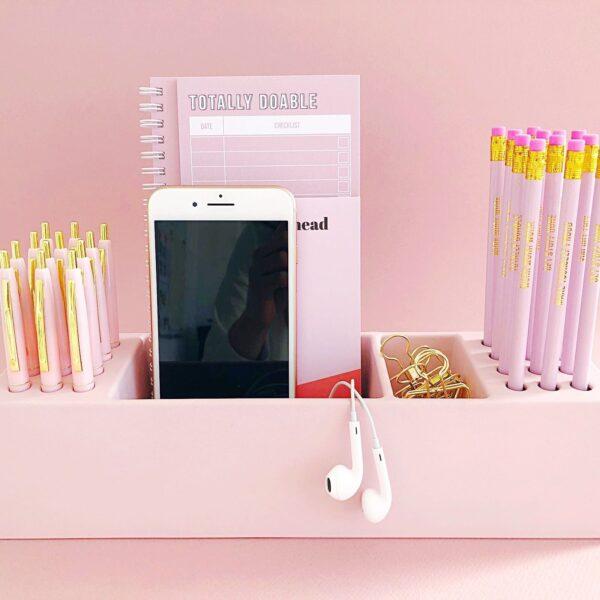 Studio Stationery Desk organizer Pens – Roze Desk organizer
