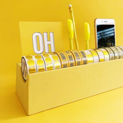 Studio Stationery Desk organizer Washi – Geel Desk organizer