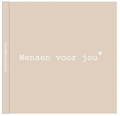 Huisje no.56 – Wensen voor jou Kraambezoekboek – Linnen cover Kraambezoekboek