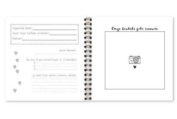 Fyllbooks Allerliefste vriendin invulboekje Cadeauboek voor vriendinnen