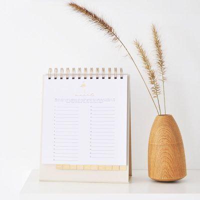 HOP Bureaukalender – Natuur met goudfolie Bureaukalender