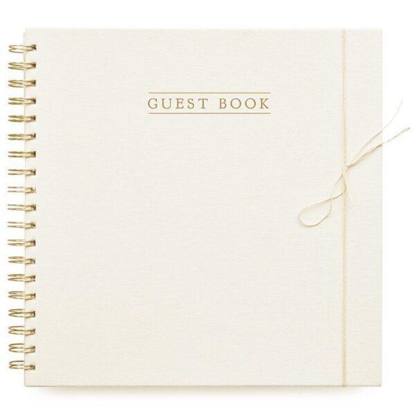 HOP Guestbook – Ivoor – Linnen cover Boeken in de aanbieding