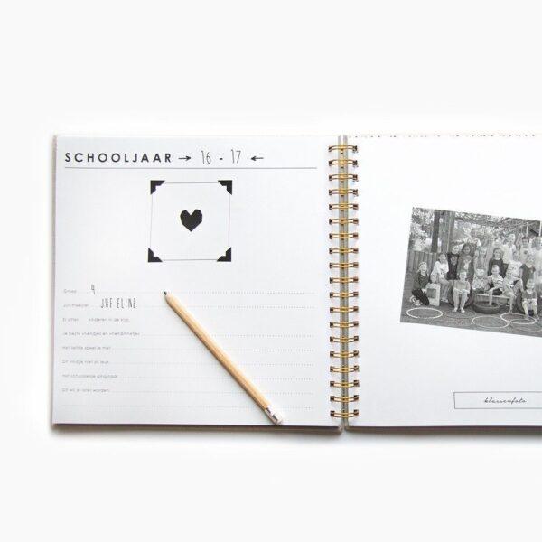 HOP Schoolfotoboek – Ivoor – Linnen cover Schoolfotoboek