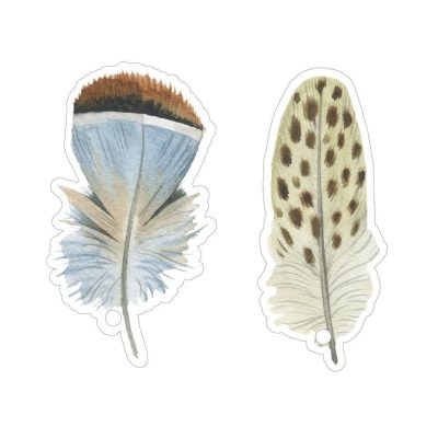 Cadeaulabels Feathers (10 stuks) Cadeaulabels