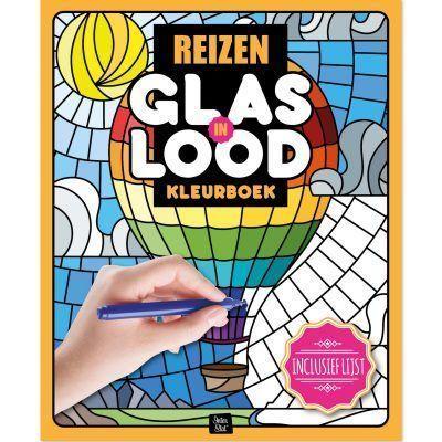 Glas-in-lood kleurboek – Reizen Glas-in-lood kleurboek