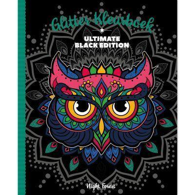 Glitter kleurboek Black edition – Night Forest Glitter kleurboek