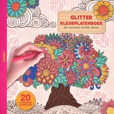 Glitter kleurplatenboek – Forest Glitter kleurboek