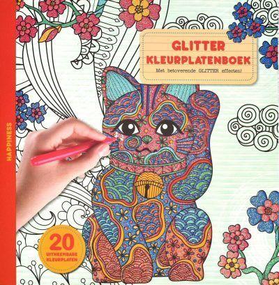 Glitter kleurplatenboek – Happiness Glitter kleurboek