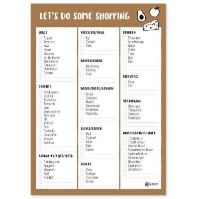 Oh My Goody – Boodschappenlijst planner 'Let's do some shopping' A5 Boodschappen planner