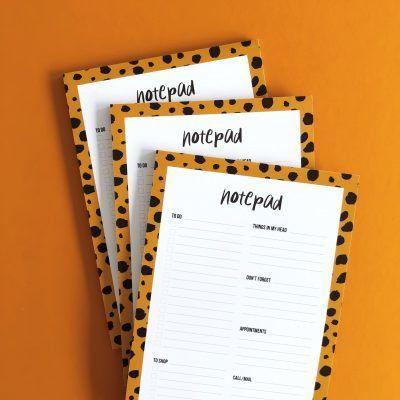 Studio Stationery Notepad Cheetah – A5 Collegeblokken