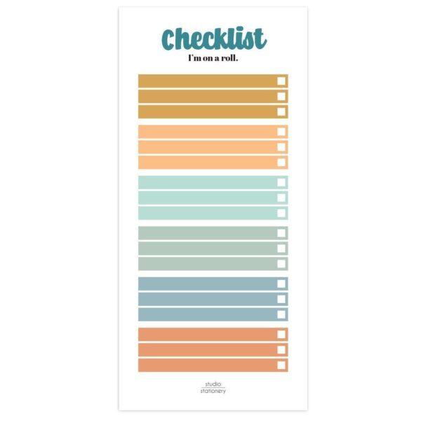 Studio Stationery Notitieblok Checklist Notitieblokken