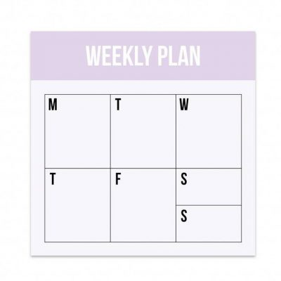 Studio Stationery Notitieblok Mini Weekly plan Jaarplanner