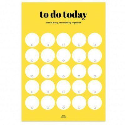 Studio Stationery Notitieblok To do today – I'm not messy Dagplanner