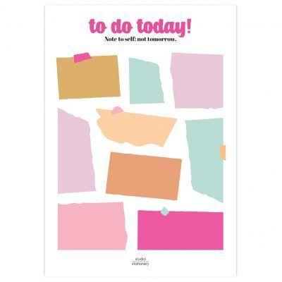 Studio Stationery Notitieblok To do today – Not tomorrow Dagplanner