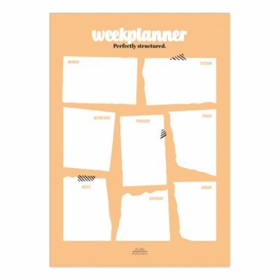 Studio Stationery Notitieblok Weekplanner – Blush Jaarplanner