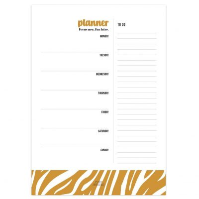 Studio Stationery Notitieblok Weekplanner – Focus now Jaarplanner