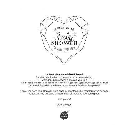 Tante Kaartje Babyshower gastenboek – Deluxe Babyshower cadeau