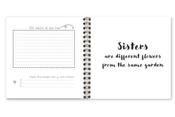 Fyllbooks Allerliefste zus invulboekje Cadeauboek voor zus