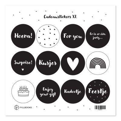 Fyllbooks Cadeaustickers XL Scrapbook stickers